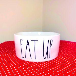 Rae Dunn EAT UP medium dog food bowl NEW